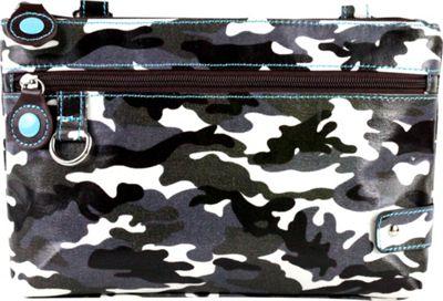 Urban Junket Carly Crossbody Grey Camouflage - Urban Junket Fabric Handbags