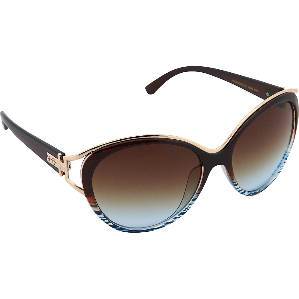 Jessica Simpson Sunwear Cat Eye Sunglasses Brown - Jessica Simpson Sunwear Sunglasses