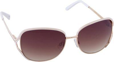 Laundry by Shelli Segal Sunglasses Laundry by Shelli Segal Sunglasses Rectangle Vented Lenses Sunglasses Gold/White - Laundry by Shelli Segal Sunglasses Sunglasses