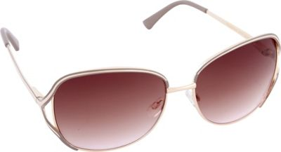 Laundry by Shelli Segal Sunglasses Rectangle Vented Lenses Sunglasses Gold/Nude - Laundry by Shelli Segal Sunglasses Sunglasses