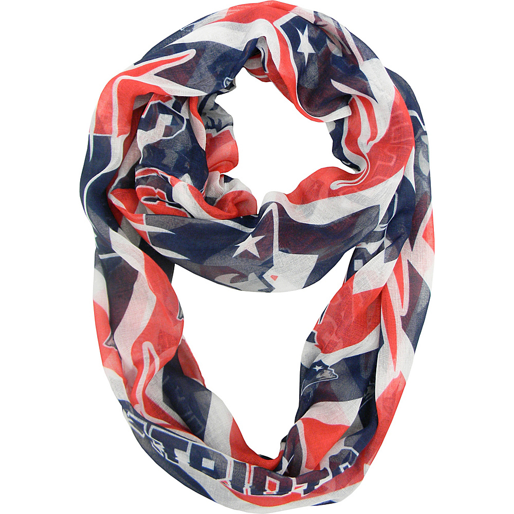 Littlearth Sheer Infinity Scarf Chevron - NFL Teams New England Patriots - Littlearth Hats/Gloves/Scarves - Fashion Accessories, Hats/Gloves/Scarves