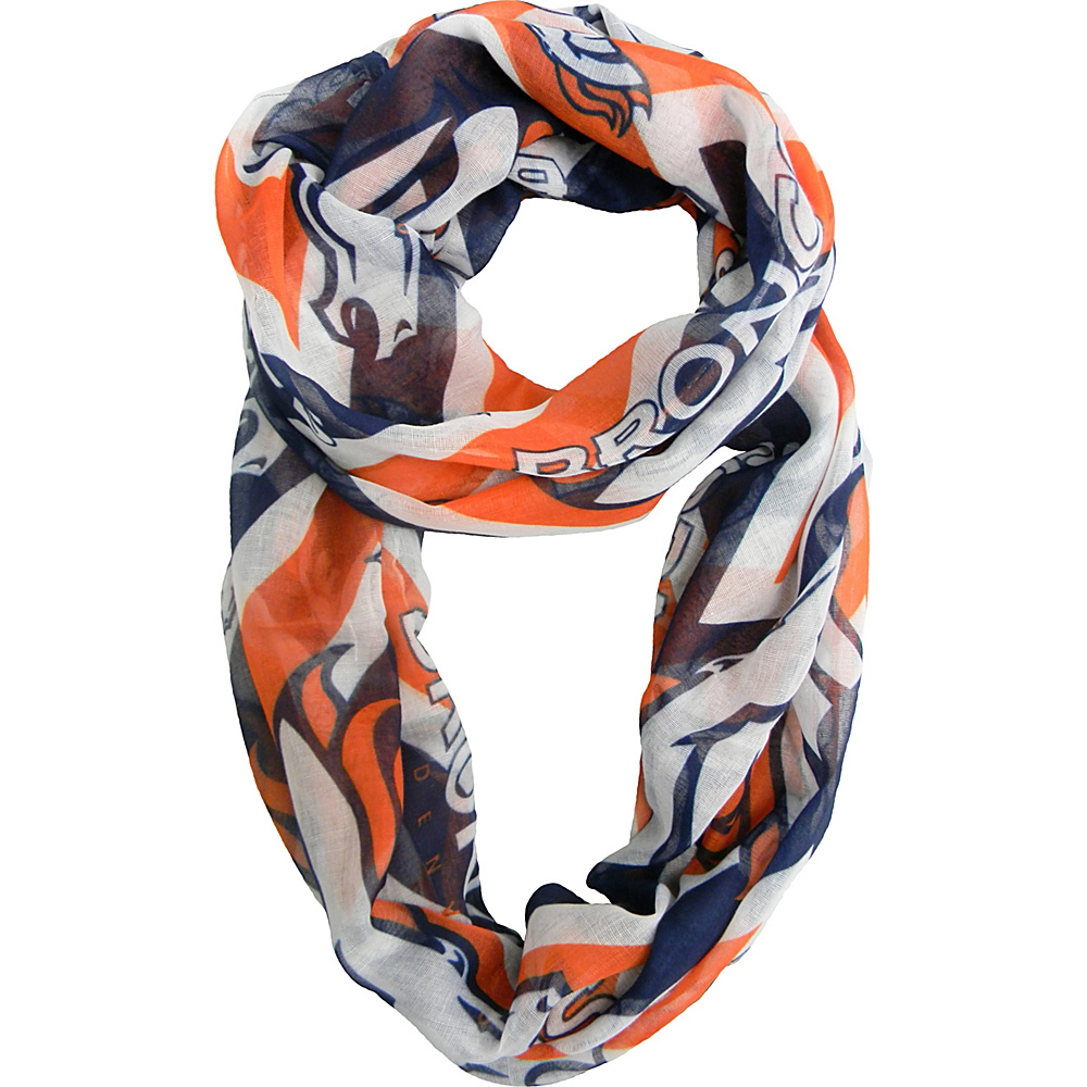 Littlearth Sheer Infinity Scarf Chevron - NFL Teams Denver Broncos - Littlearth Hats/Gloves/Scarves - Fashion Accessories, Hats/Gloves/Scarves