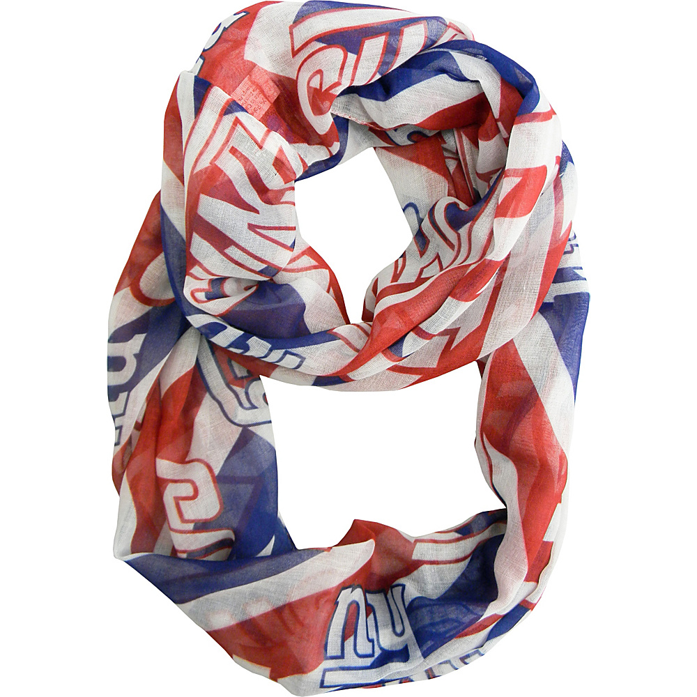 Littlearth Sheer Infinity Scarf Chevron - NFL Teams New York Giants - Littlearth Hats/Gloves/Scarves - Fashion Accessories, Hats/Gloves/Scarves