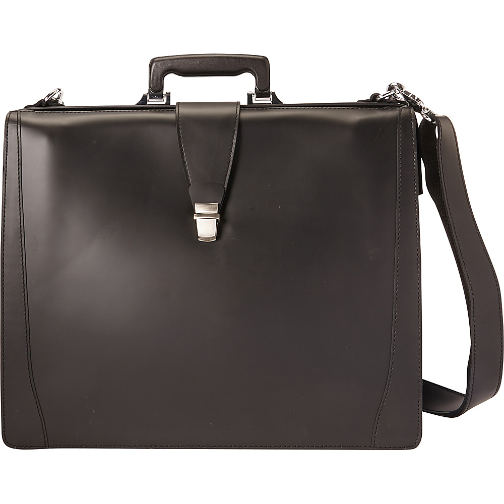 Vagabond Traveler Classic Full Grain Leather Business Pro Case Black - Vagabond Traveler Non-Wheeled Business Cases - Work Bags & Briefcases, Non-Wheeled Business Cases