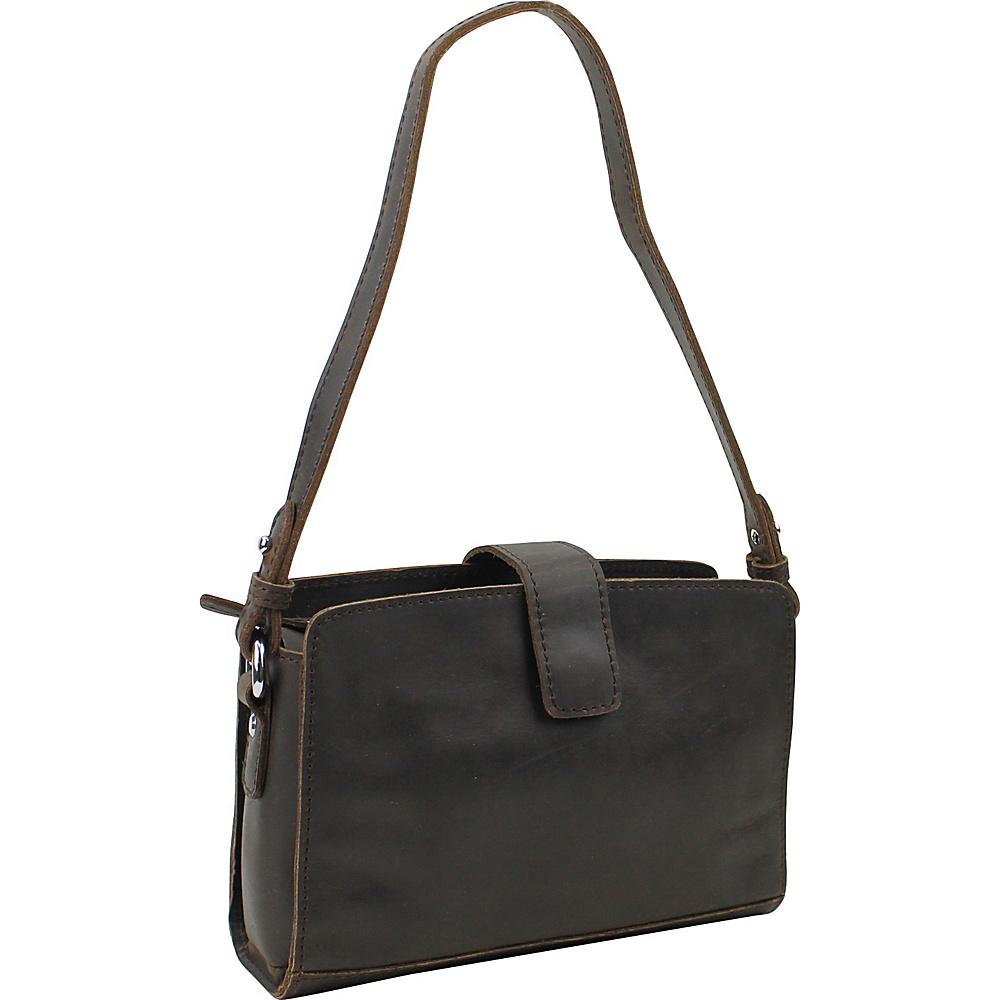 Vagabond Traveler Leather Casual Shoulder Bag Dark Brown - Vagabond Traveler Leather Handbags - Handbags, Leather Handbags