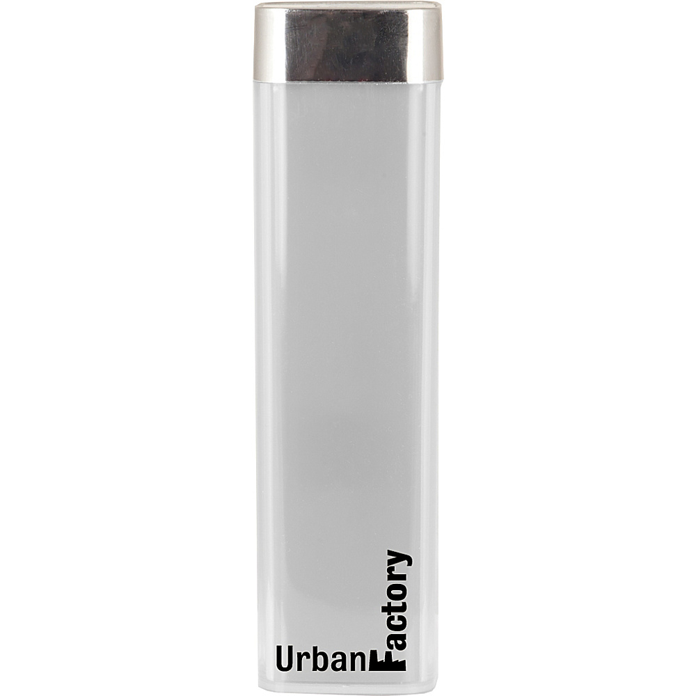 Urban Factory Lipstick Battery 2600 mAh White Urban Factory Portable Batteries Chargers