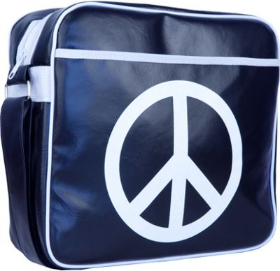 Urban Factory Vintage Collection Peace & Love Bag 16 inch Blue - Urban Factory Non-Wheeled Business Cases