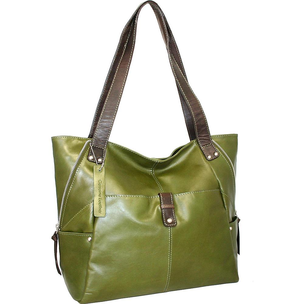 Nino Bossi Say Hey Tote Khaki Nino Bossi Leather Handbags