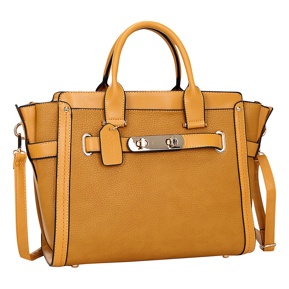 Dasein Belted Medium Tote Tan - Dasein Manmade Handbags - Handbags, Manmade Handbags