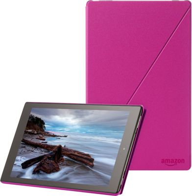 "Image of Amazon Carrying Case (Folio) for 10"" Tablet - Magenta - Polyurethane"