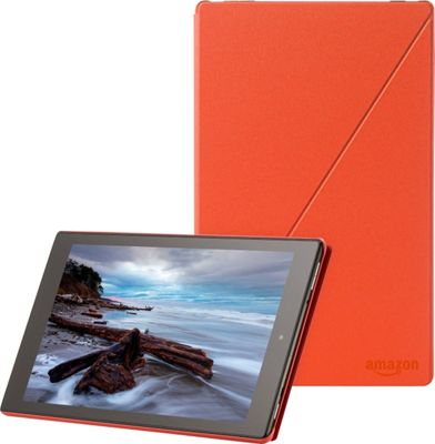 "Image of Amazon Carrying Case (Folio) for 10"" Tablet - Tangerine - Polyurethane"