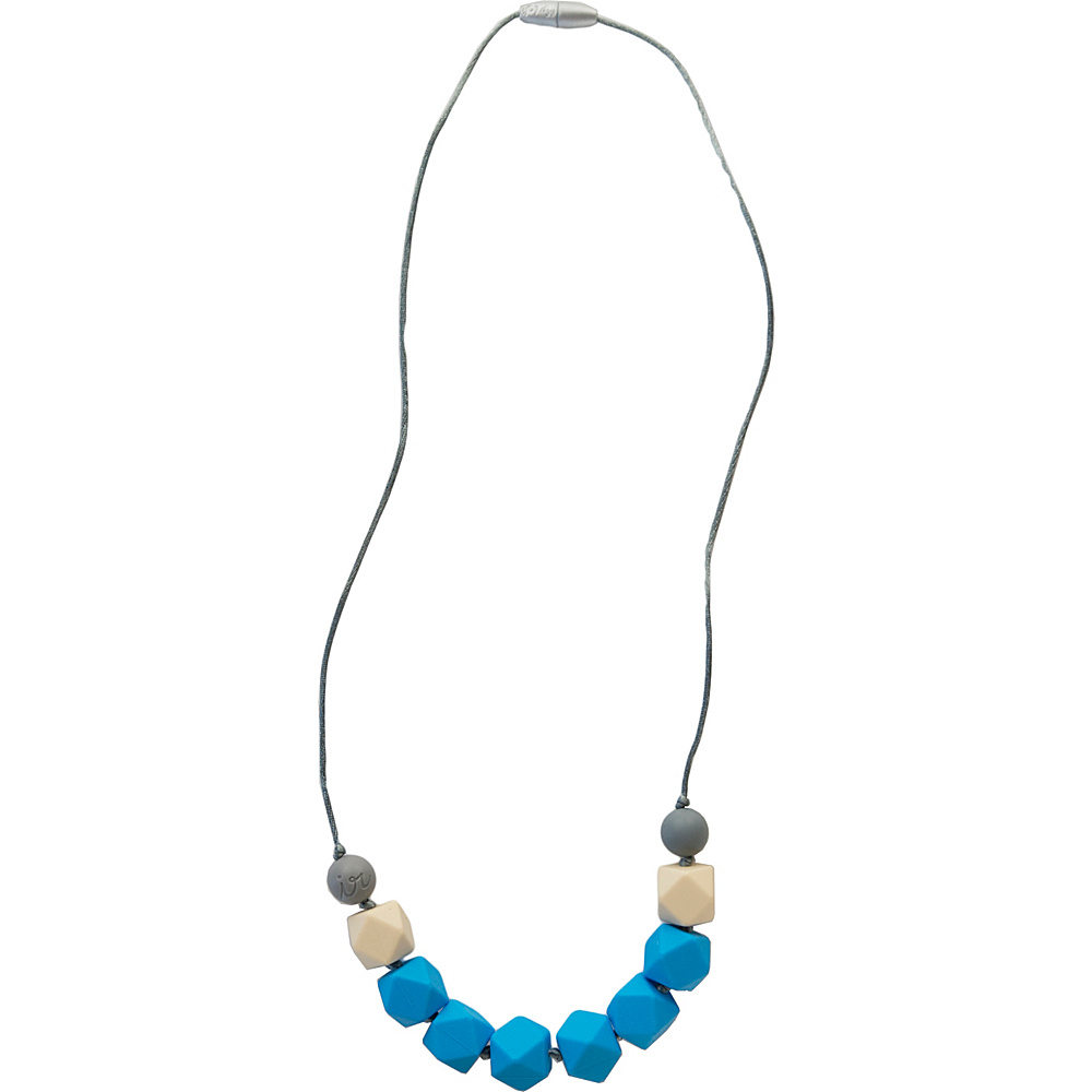 Itzy Ritzy Teething Happens Cube Bead Necklace Malibu Blue Itzy Ritzy Diaper Bags Accessories