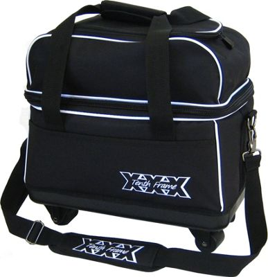 Tenth Frame Tenth Frame Tag A Long Double Roller Black - Tenth Frame Bowling Bags