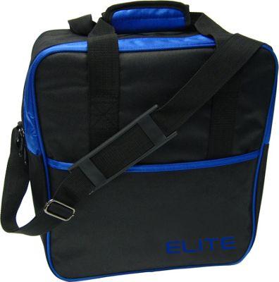 Elite Bowling Basic Single Tote Bowling Bag Black/Blue - Elite Bowling Bowling Bags
