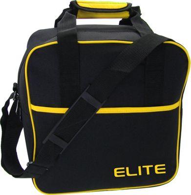 Elite Bowling Basic Single Tote Bowling Bag Black/Yellow - Elite Bowling Bowling Bags