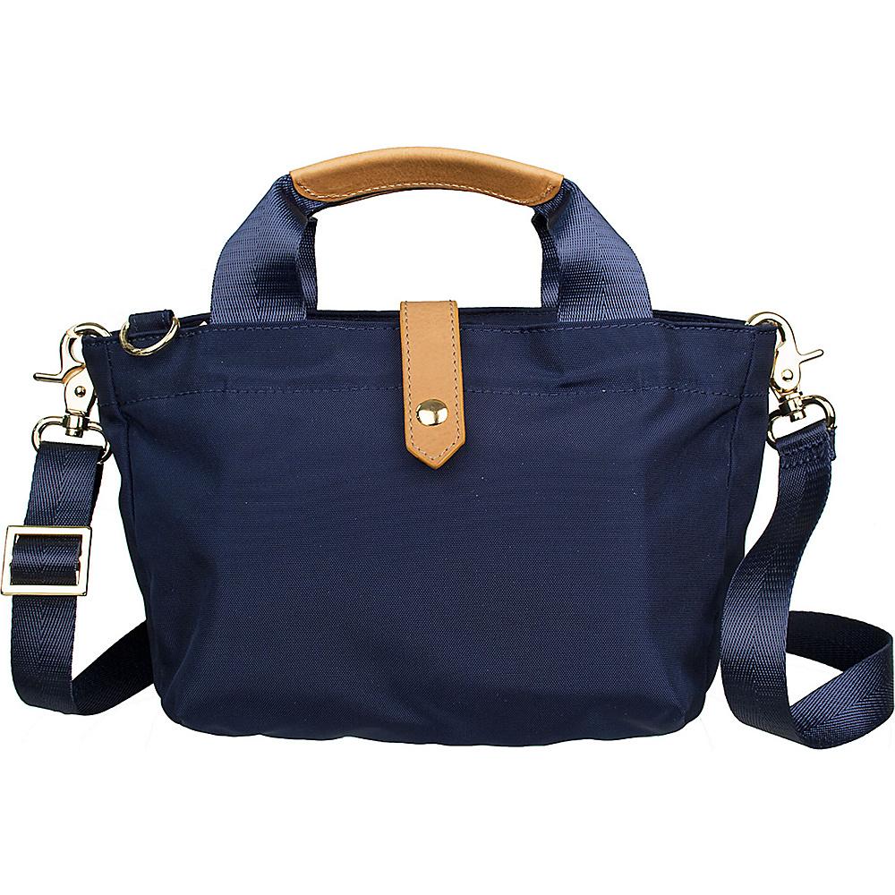 Boulevard Pandora Mini Crossbody Bag Navy - Boulevard Fabric Handbags
