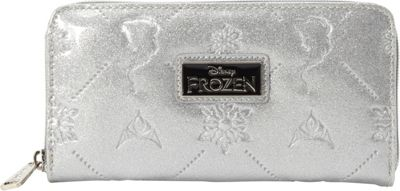 Loungefly Frozen Silver Glitter Embossed Wallet Silver - Loungefly Women's Wallets