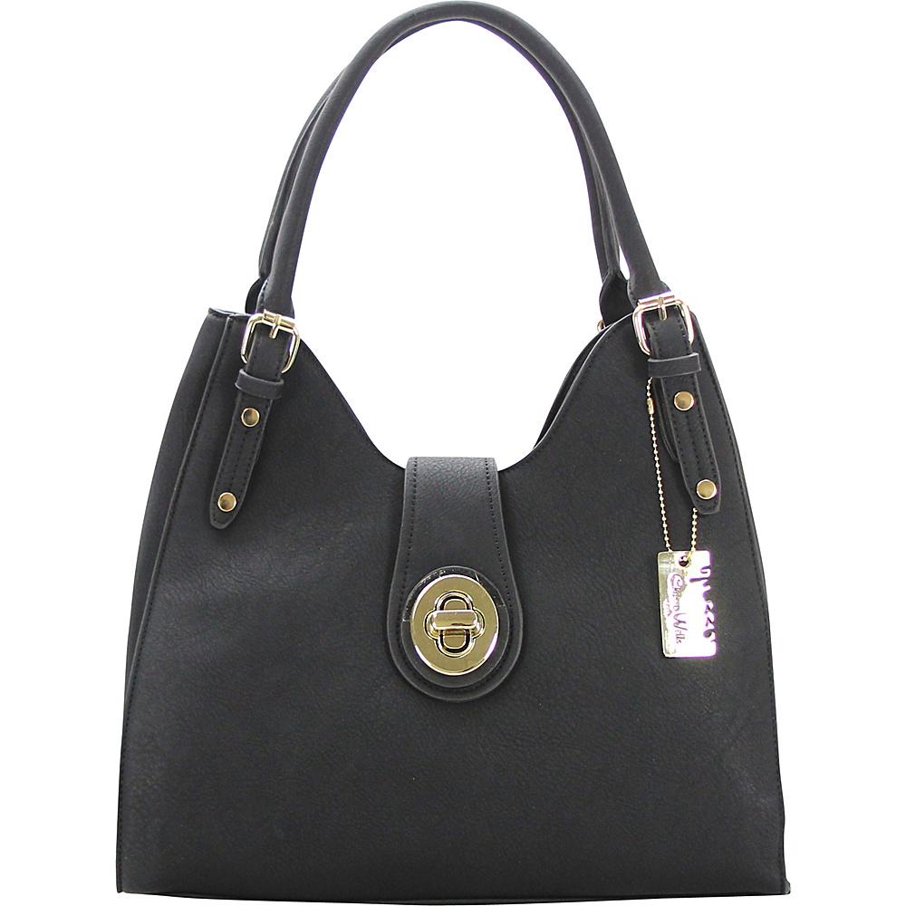 Chasse Wells Havre De Paix Shoulder Hobo Black Chasse Wells Manmade Handbags