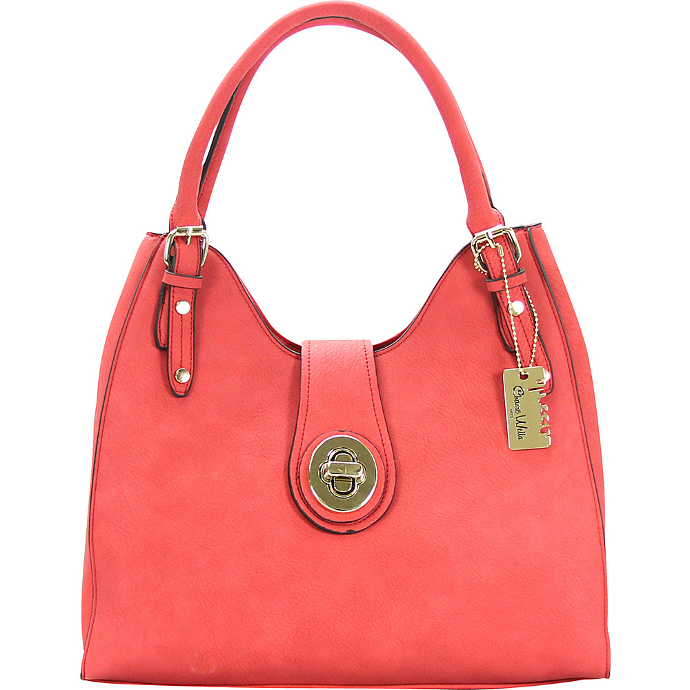Chasse Wells Havre De Paix Shoulder Hobo Red Chasse Wells Manmade Handbags