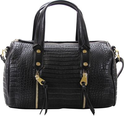 Chasse Wells Chasse Wells Fierte Croc Satchel Black - Chasse Wells Manmade Handbags