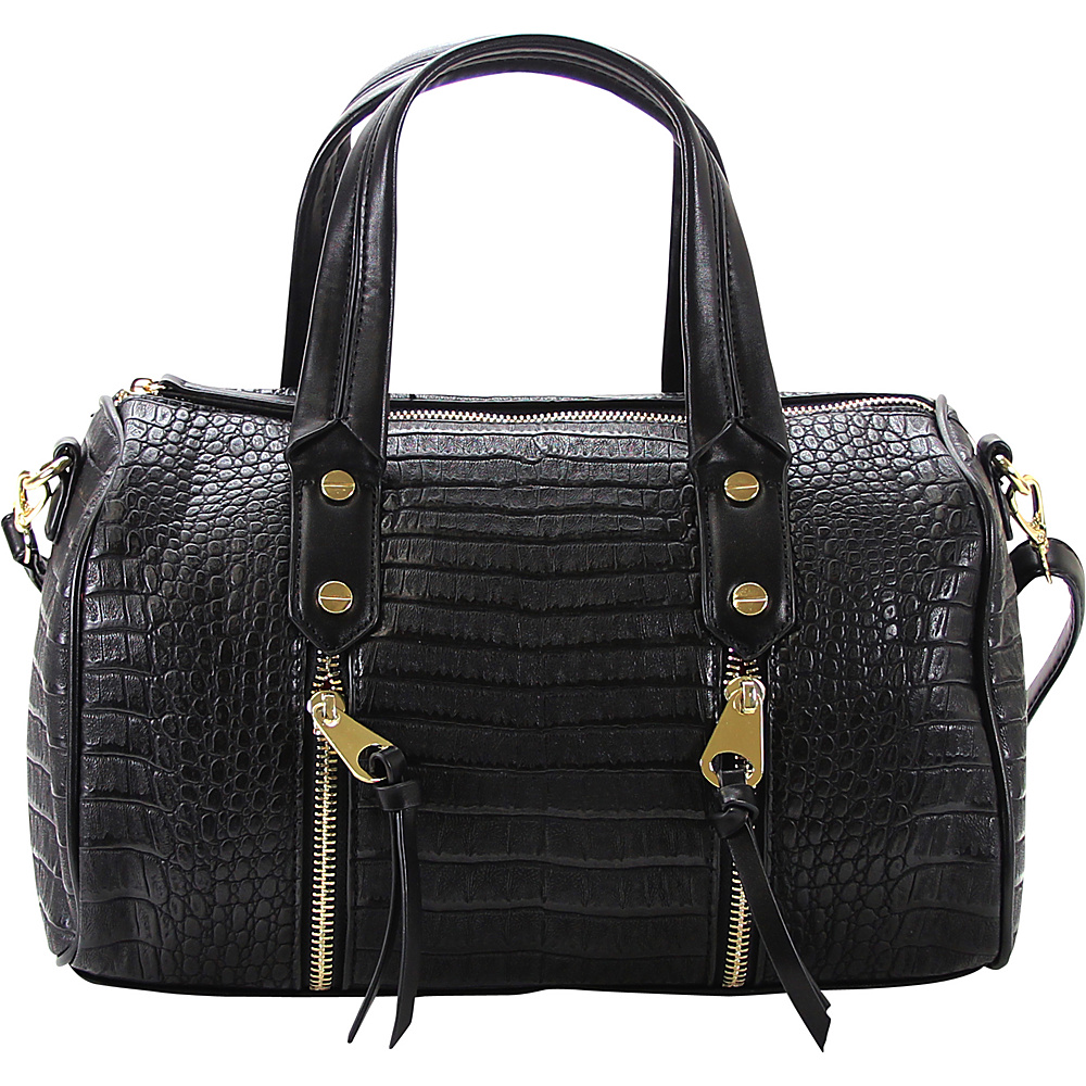 Chasse Wells Fierte Croc Satchel Black Chasse Wells Manmade Handbags