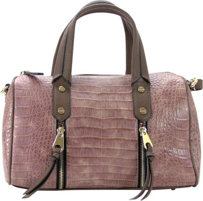 Chasse Wells Chasse Wells Fierte Croc Satchel Brown - Chasse Wells Manmade Handbags