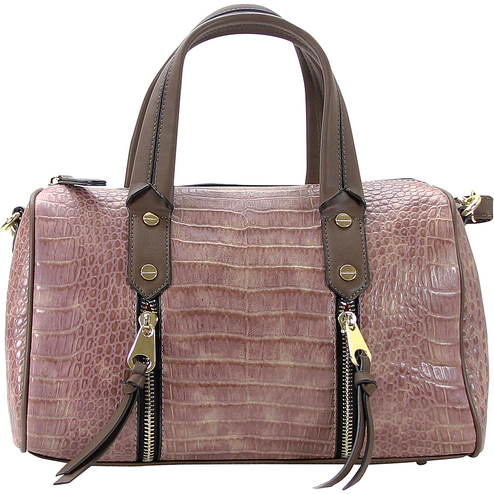 Chasse Wells Fierte Croc Satchel Brown Chasse Wells Manmade Handbags