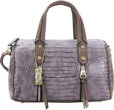 Chasse Wells Chasse Wells Fierte Croc Satchel Gray - Chasse Wells Manmade Handbags