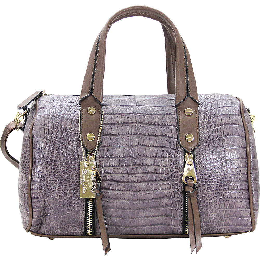 Chasse Wells Fierte Croc Satchel Gray Chasse Wells Manmade Handbags