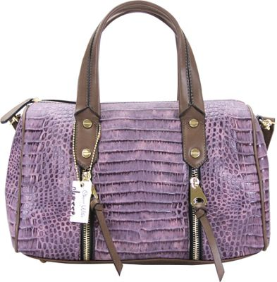 Chasse Wells Chasse Wells Fierte Croc Satchel Purple - Chasse Wells Manmade Handbags
