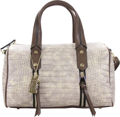 Chasse Wells Chasse Wells Fierte Croc Satchel Stone Beige - Chasse Wells Manmade Handbags