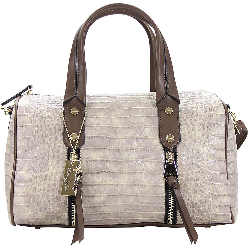 Chasse Wells Fierte Croc Satchel Stone Beige Chasse Wells Manmade Handbags