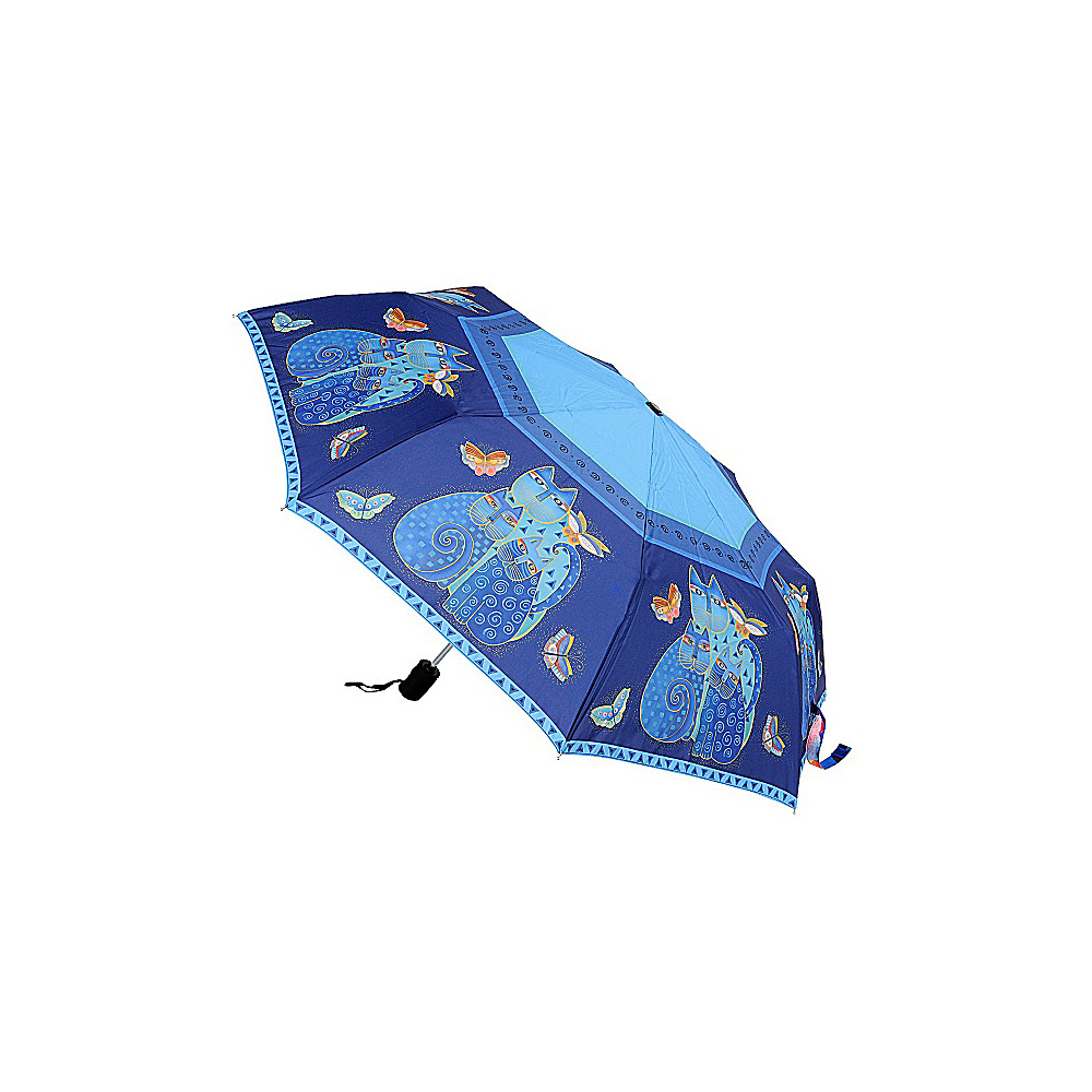 Laurel Burch Umbrella Indigo Cats Laurel Burch Umbrellas and Rain Gear