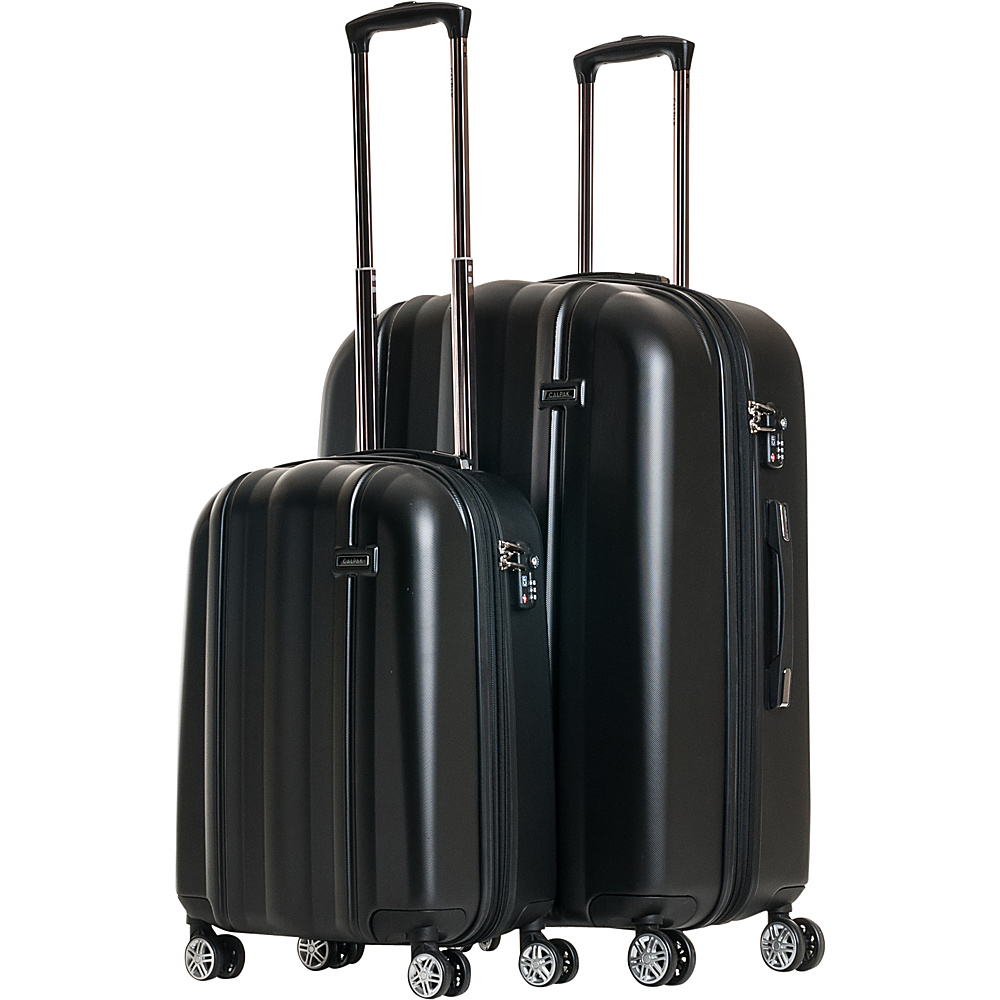 CalPak Winton 2 Piece Expandable Lightweight Luggage Set Black CalPak Luggage Sets