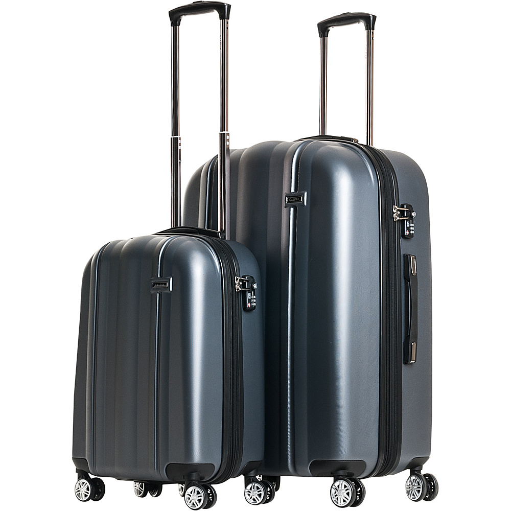 CalPak Winton 2 Piece Expandable Lightweight Luggage Set Charcoal CalPak Luggage Sets