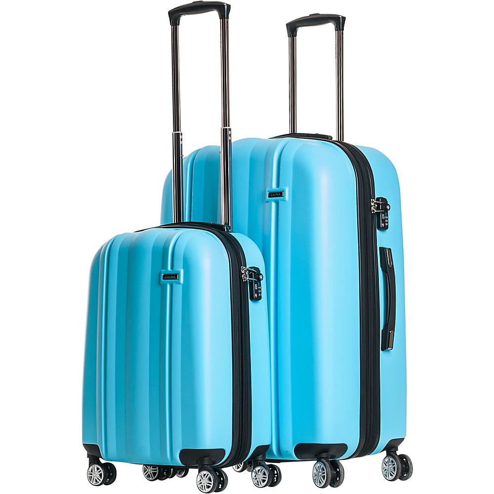 CalPak Winton 2 Piece Expandable Lightweight Luggage Set Light Blue CalPak Luggage Sets