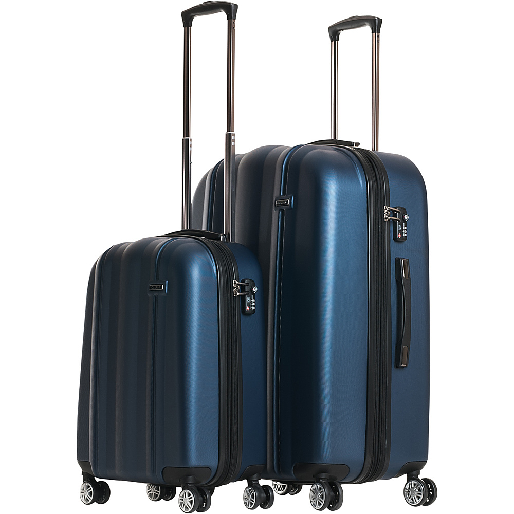 CalPak Winton 2 Piece Expandable Lightweight Luggage Set Navy Blue CalPak Luggage Sets