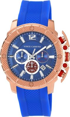 Vince Camuto Watches Men's Rose Gold-Tone Chronograph Watch Blue - Vince Camuto Watches Watches