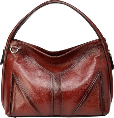 Vicenzo Leather Elle Leather Hobo Red - Vicenzo Leather Leather Handbags