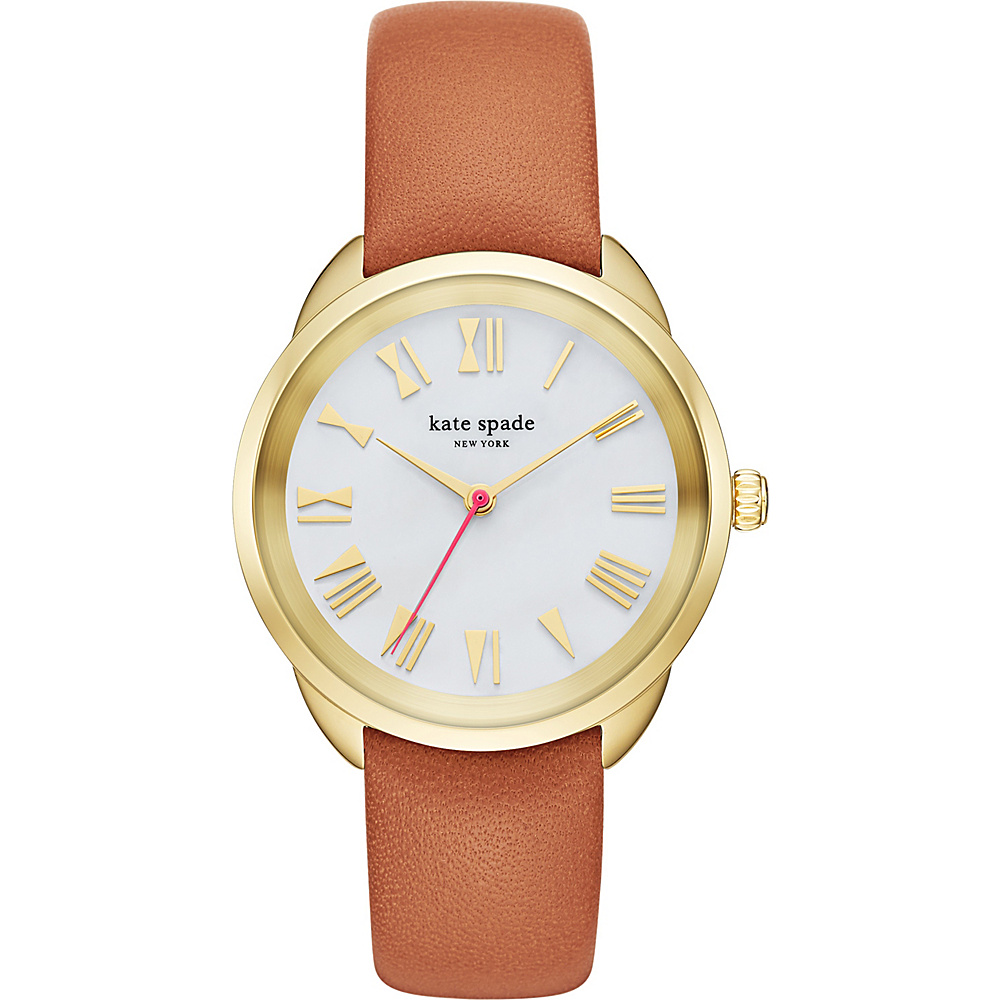 kate spade watches Leather Crosstown Watch Brown kate spade watches Watches