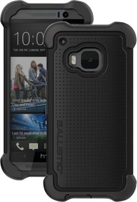 Image of Ballistic HTC One (m9) Tough Jacket Maxx Case with Holster Black - Ballistic Personal Electronic Cases