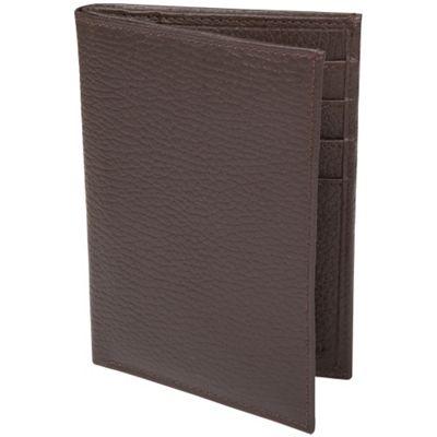 Access Denied RFID Blocking Genuine Leather Passport Holder Wallet Dark Brown Pebble - Access Denied Travel Wallets
