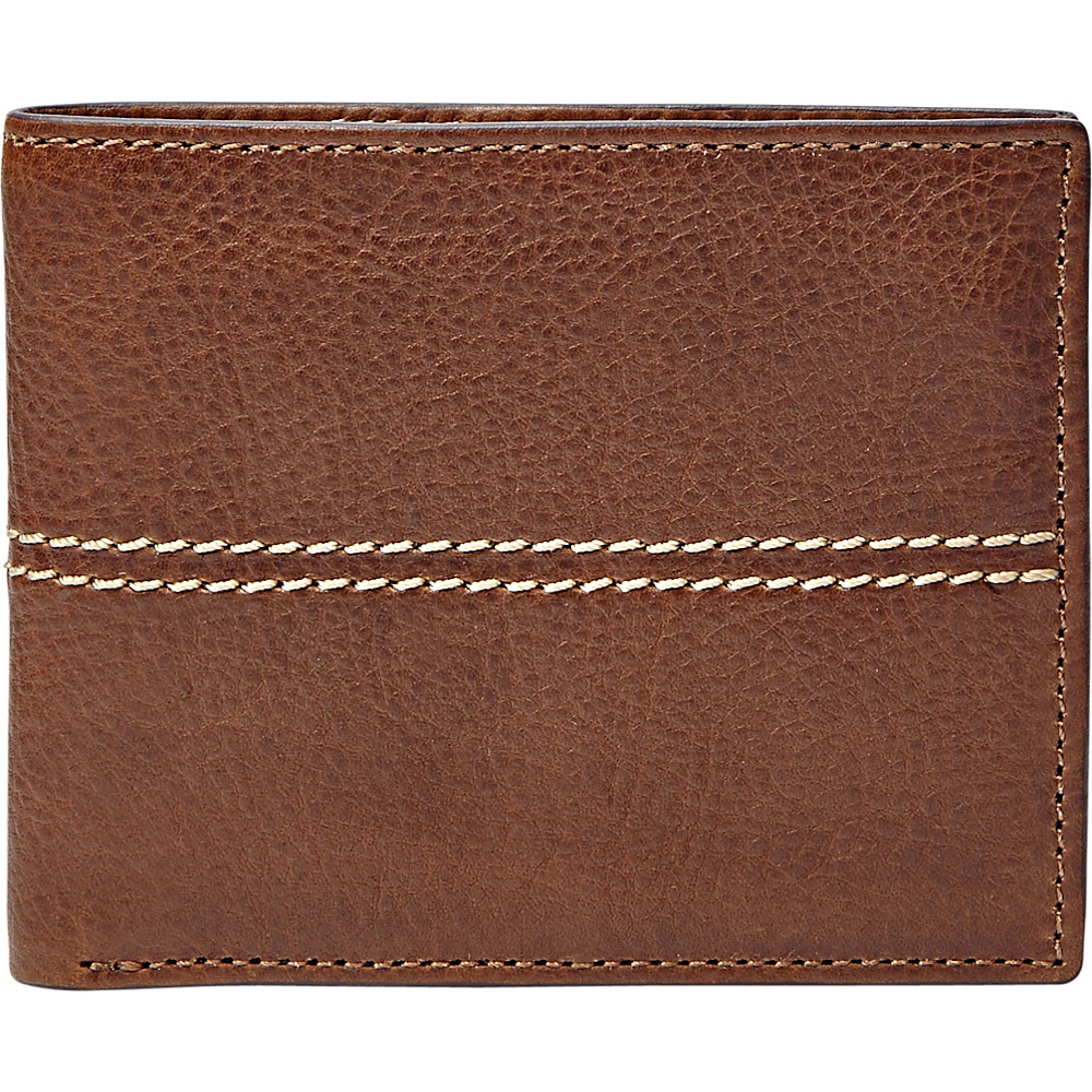 Fossil Turk Flip ID Bifold Brown - Fossil Mens Wallets - Work Bags & Briefcases, Men's Wallets