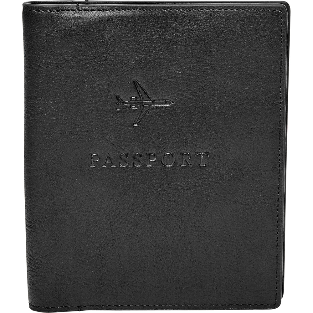 Fossil Passport Case Black - Fossil Travel Wallets - Travel Accessories, Travel Wallets