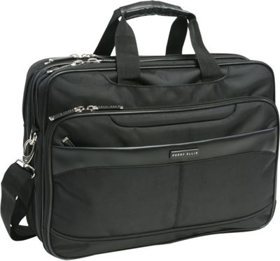 Perry Ellis Laptop/Tablet Business Briefcase Black - Perry Ellis Messenger Bags