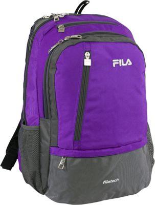 Fila Duel Tablet and Laptop Backpack Purple - Fila Business & Laptop Backpacks