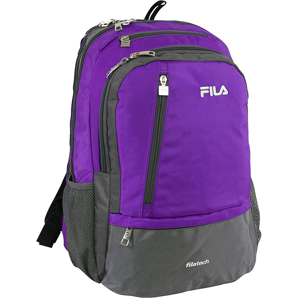 Fila Duel Tablet and Laptop Backpack Purple Fila Business Laptop Backpacks