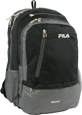 Fila Duel Tablet and Laptop Backpack Black - Fila Business & Laptop Backpacks