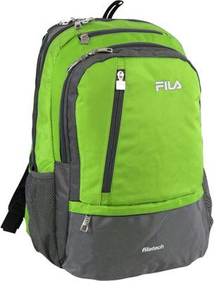 Fila Duel Tablet and Laptop Backpack Lime Green - Fila Business & Laptop Backpacks