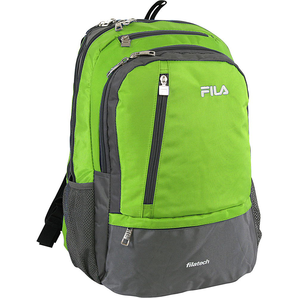 Fila Duel Tablet and Laptop Backpack Lime Green Fila Business Laptop Backpacks